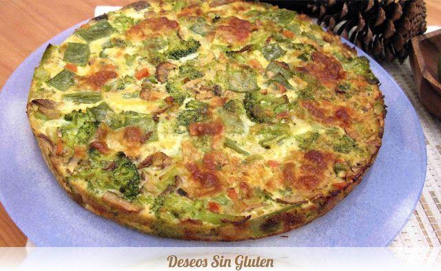 Deseos Sin Gluten: PASTEL DE BRÓCOLI Y MOZARELLA SIN GLUTEN
