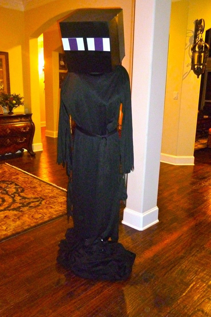 DIY minecraft black enderman costume for 2014 Halloween ...