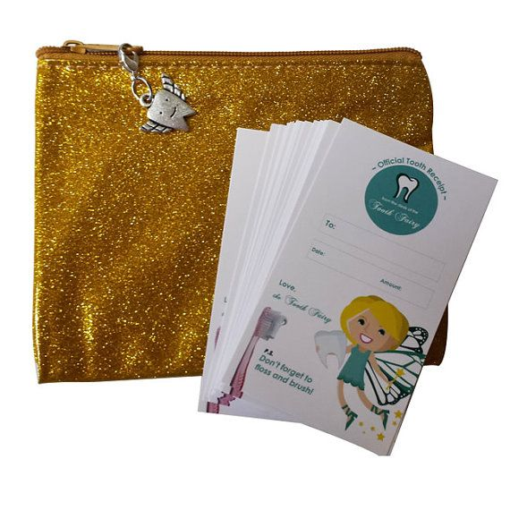 10 qty Tooth Fairy Receipts- Tooth Fairy Letters- OR Complete Tooth Fairy Kit- Tooth Fairy Pillow Alternative- Tooth Fairy Pouch- Lost Tooth