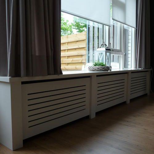 Radiator ombouw en bijpassende vensterbanken