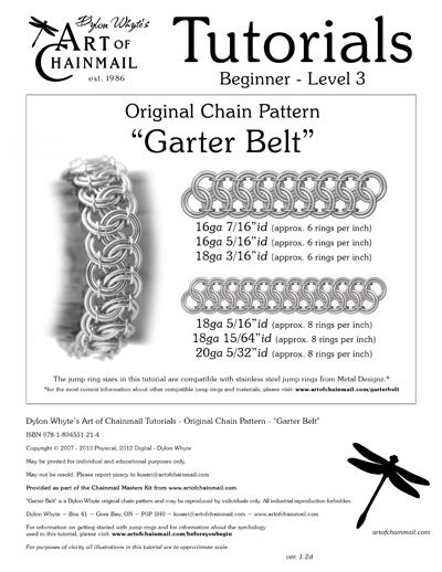 Dylon Whyte`s Art of Chainmail Tutorial - Original Chain Pattern - Garter Belt