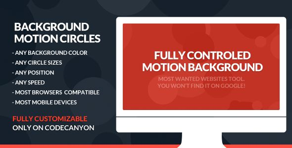 Deals Motion Background Bokeh & Circles AnimationIn our offer link above you will see