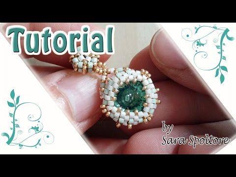 Come fare orecchini con perline - Come incastonare - Tutorial orecchini fai da te - YouTube