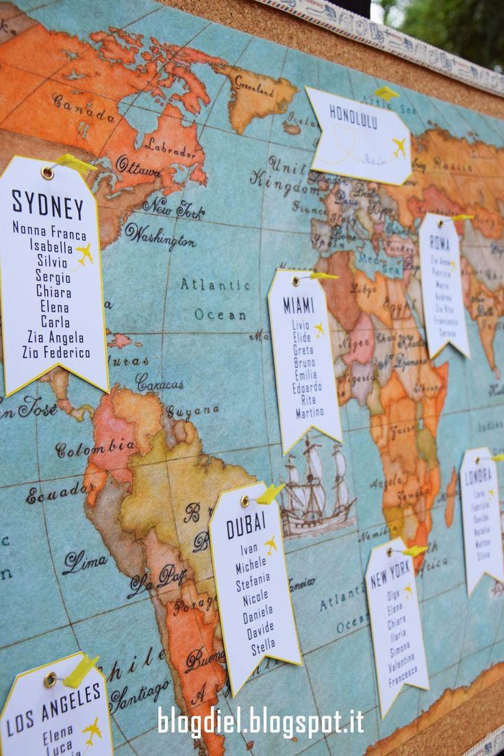 Tableau de mariage - Travel theme #serendipity555 #wedding #matrimonio #nozze #tableaudemariage Seguimi su www.facebook.com/Serendipity555