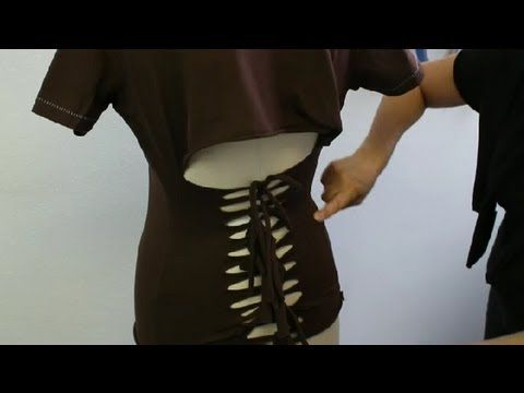How to Cut Big Shirts With a Cute Pattern : Fashion & Cutting Shirts - YouTube
