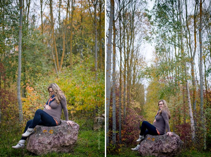 Photographe maternité ifs. Une séance grossesse au couleur de l'automne. Voici la séance d'Élodie et Mathieu avec leurs enfants.