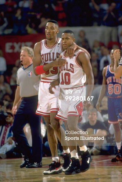 Playoffs Chicago Bulls Scottie Pippen And B J Armstrong On… News ...