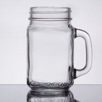 Core 16 oz. Mason Jar / Drinking Jar with Handle - 12 / Case