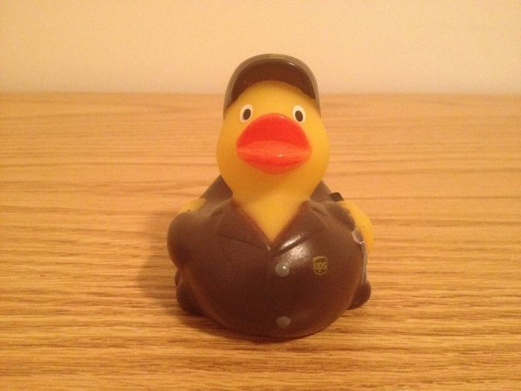 United Parcel Service Rubber Bath Duck UPS Rubber Ducky