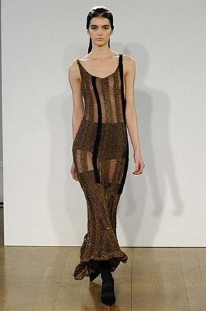 Craig Lawrence A/W12. Yes come autumn we will all be wearing see-through metallic creations.