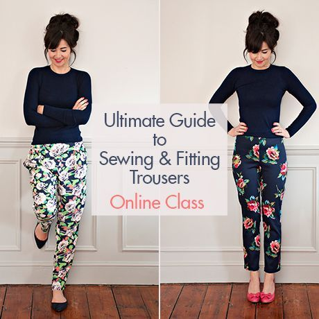 We are incredibly excited to bring you our new online sewing class: the Ultimate Guide to Sewing & Fitting Trousers! This course is all about learning how to sew trousers and achieve the perfect fit.