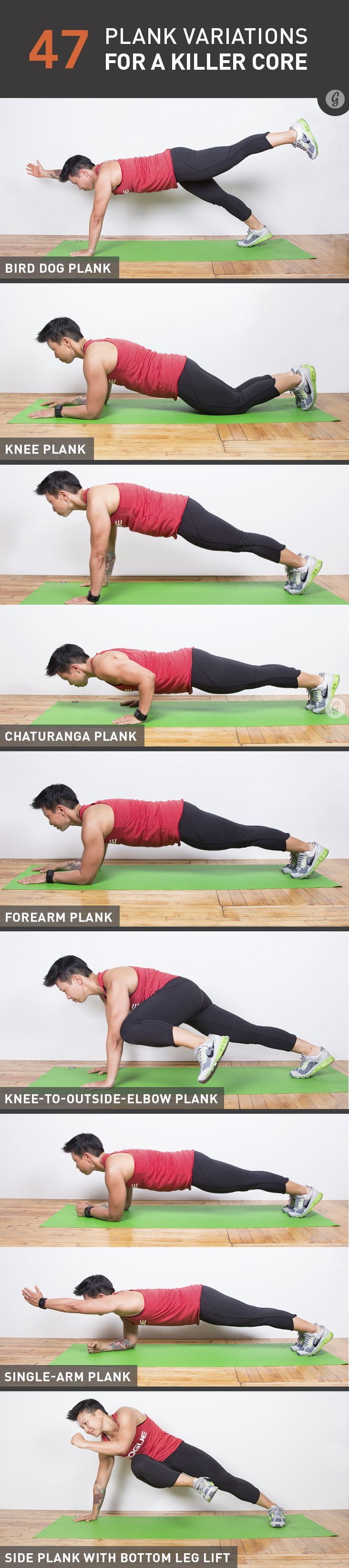 Want tighter, sexier abs? then try these 47 Crazy Fun Plank Variations for a Killer Core! Pin now, check later.