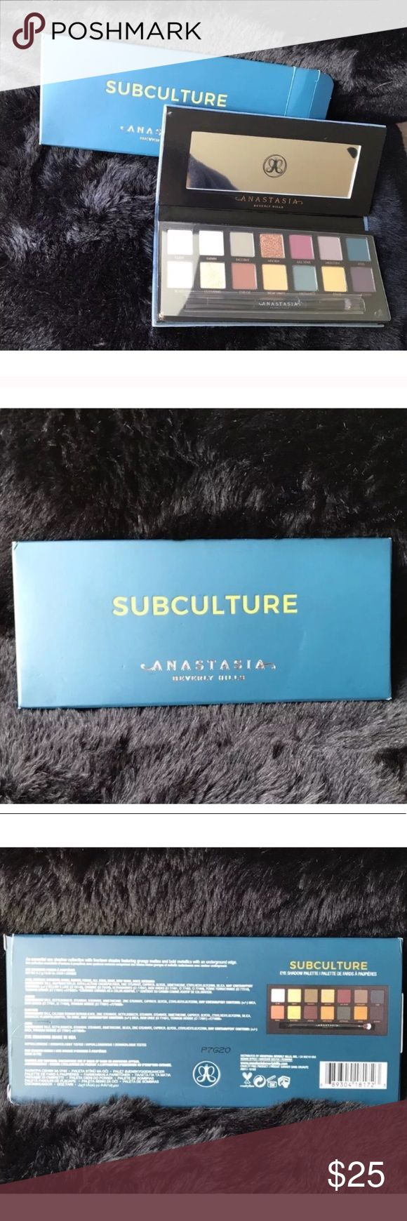 NIB Anastasia BH Subculture Palette 100% Authentic CHEAPER THAN SEPHORA WITH COUPON!!!! Brand New Never Used or Swatched Received for Xmas...had just sold my other one lol, it's just not for me!  100% Authentic Anastasia Beverly Hills Makeup Eyeshadow