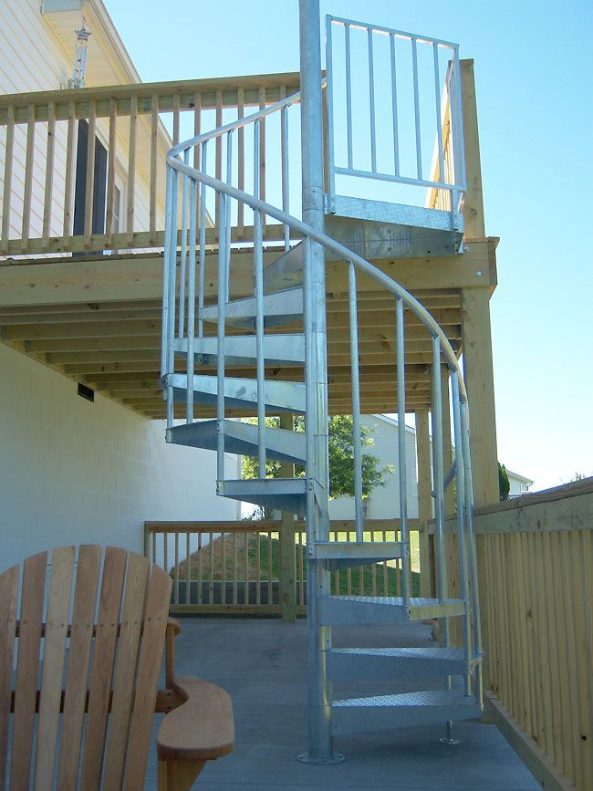 Best 57 Best Outdoor Spiral Stairs Images On Pinterest Ladder 640 x 480