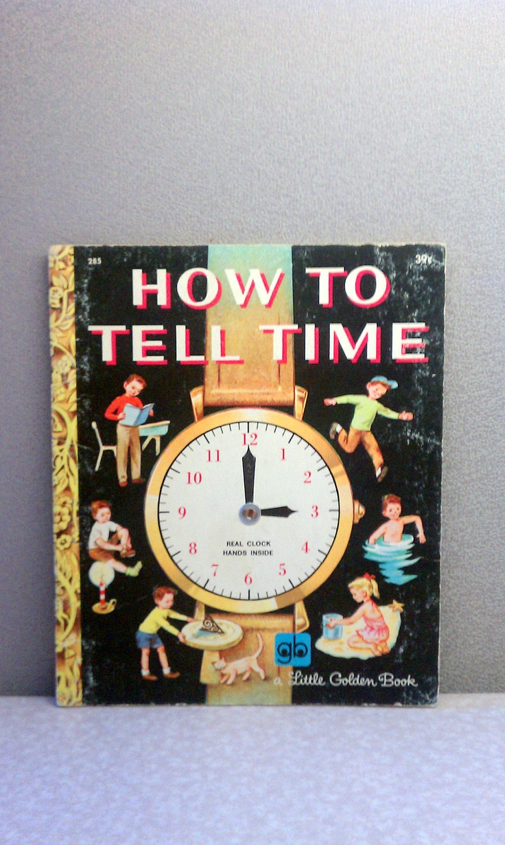 Vintage Children's Book - 1972 How to Tell Time Little Golden Book. $5.50, via Etsy.