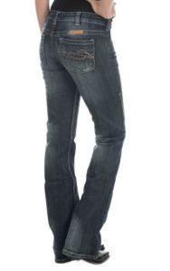 Cowgirl Tuff Women's Dark Wash Dont Fence Me In Boot Cut Jeans   Cavender's