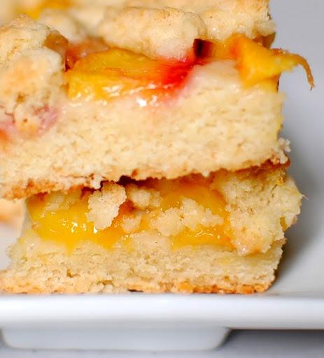 peach shortbread bars- boyfriend would love these