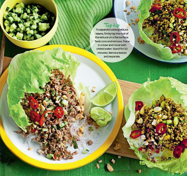 Thai Pork Larb Salad. This dish is filled with traditional Thai flavours! #Woolworths #recipe #salad #Thai http://www.woolworths.com.au/wps/wcm/connect/Website/Woolworths/FreshFoodIdeas/Recipes/Recipes-Content/thaiporklarbsalad