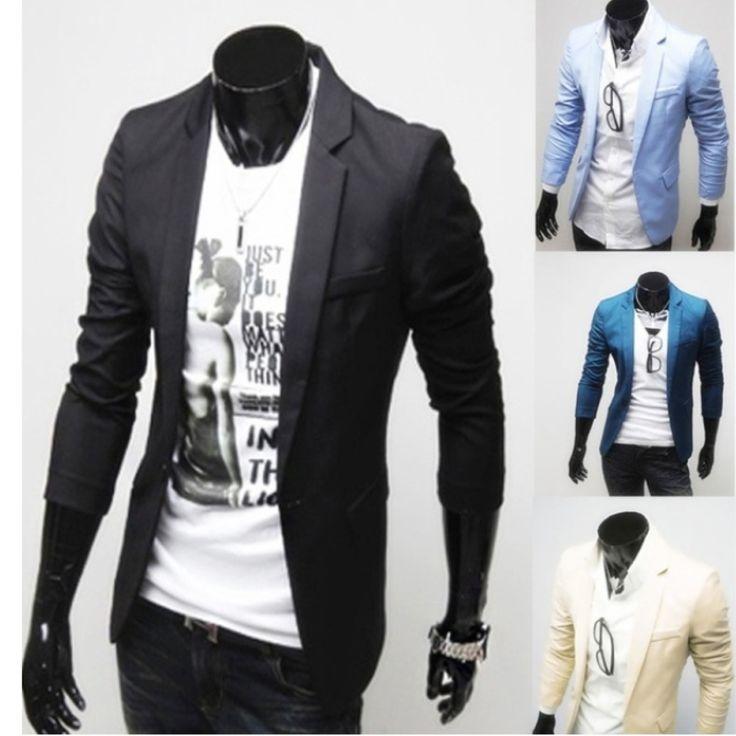 (CLUB WEAR) Casual single button long sleeve men suit jacket coat