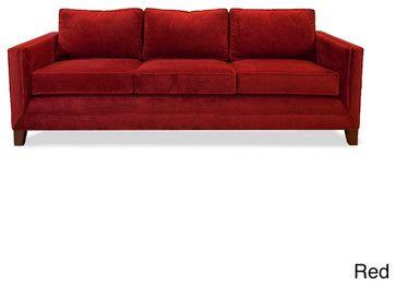 Barcelona Velvet Sofa - contemporary - sofas - Overstock ...