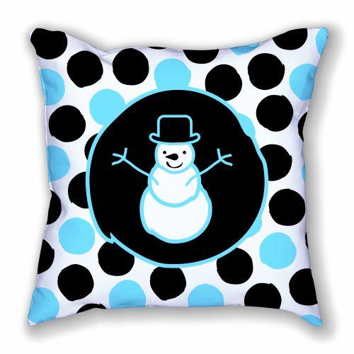 Snowman and Jumbo Polka Dots Pillow