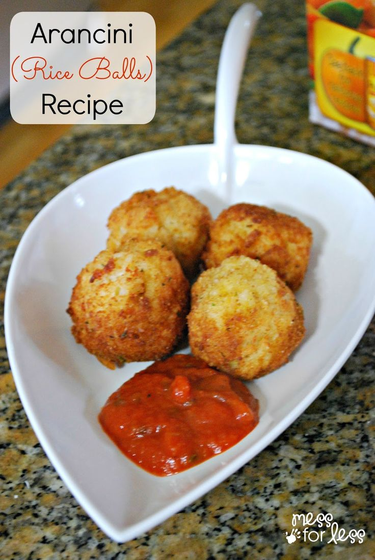 Arancini Recipe - It used to take a lot of work to make rice balls. Minute Rice is a great shortcut to make easy rice balls.
