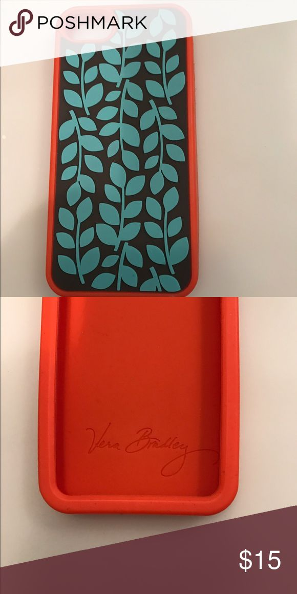Vera Bradley 5s phone case Shower Vines silicone phone case for 5s iPhone. No tears. Vera Bradley Accessories Phone Cases