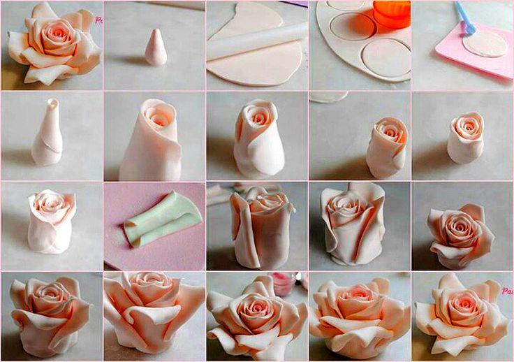 Пошаговые картинки из мастики