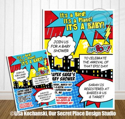 superhero baby shower invitations how to make superhero baby shower invitations templates with. Black Bedroom Furniture Sets. Home Design Ideas