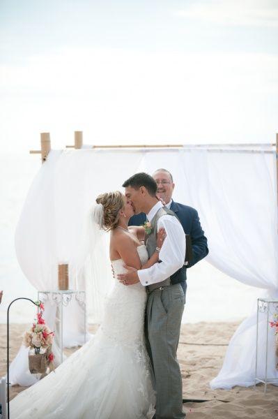 Grand Haven City Beach Wedding Wedding Planner White Dress