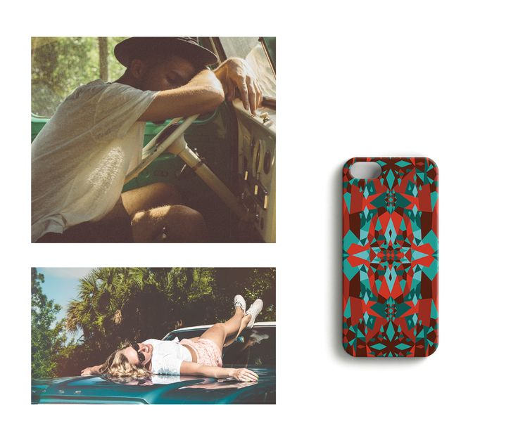 Route 66 //Snowflakes in the Heat iPhone case designed by Katariina Karjalainen.
