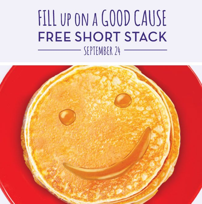 On September 24th, Perkins is giving you a free short stack of our delicious pancakes as part of our Give Kids The World Pancake Day! We're taking care of the food in hopes that you'll consider making a donation to Give Kids The World, a 70-acre nonprofit resort in Florida for children with life-threatening illnesses and their families. It's an opportunity to eat great food and change a child's life. And it's only available at participating Perkins locations on Sept. 24, 2015.