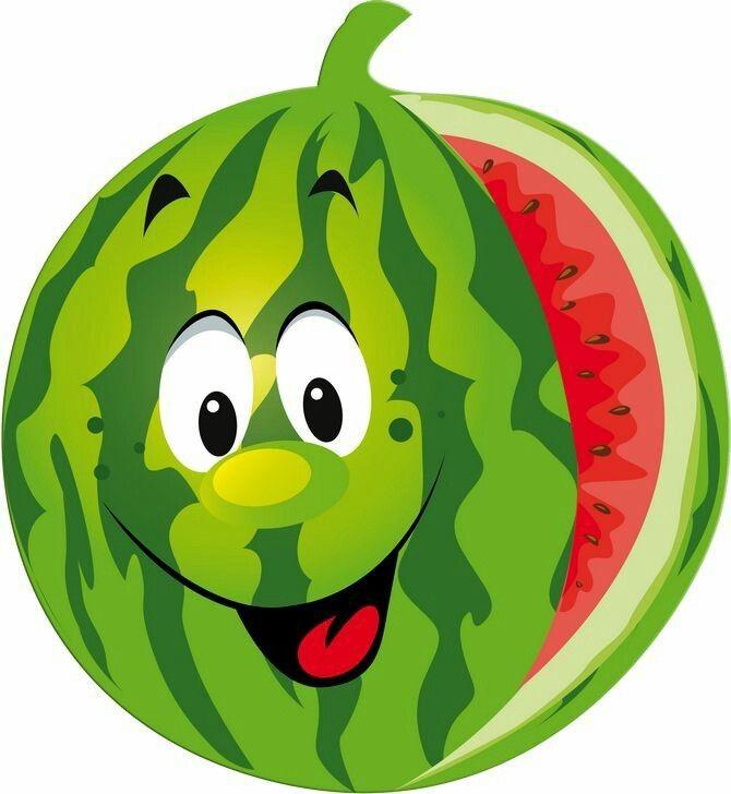 Музыкальные клипы, веселые картинки овощей и фруктов для детей цветные