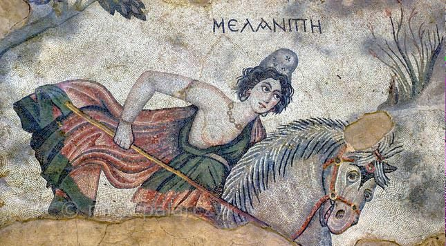 "Henry George Liddell on Twitter: ""Ἀμαζών, όνος, ἡ —Amazon (pic: Melanippe, sister of Hippolyte, from mosaic in Haleplibahçe, Turkey) http://t.co/Jnhx54RBDB"""