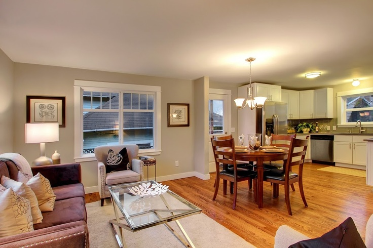 Heaton Dainard flipped another house in Greenwood Seattle! Look at the awesome remodel.. hardwood floors and charming details in the living room!