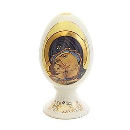 Decorative Egg with an Icon of the Mother of God