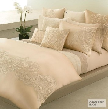 donna karan bedding black label corinthian linear stitch stripe king quilt