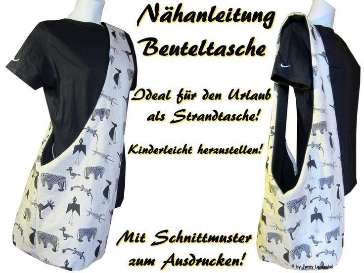 Anleitung - Beuteltasche nähen, Tasche nähen von Trash-Monstarz® Nähshop auf DaWanda.com