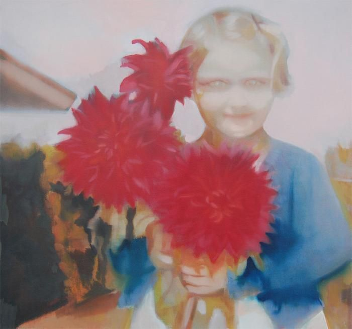 Kate Gottgens - Girl with dahlias