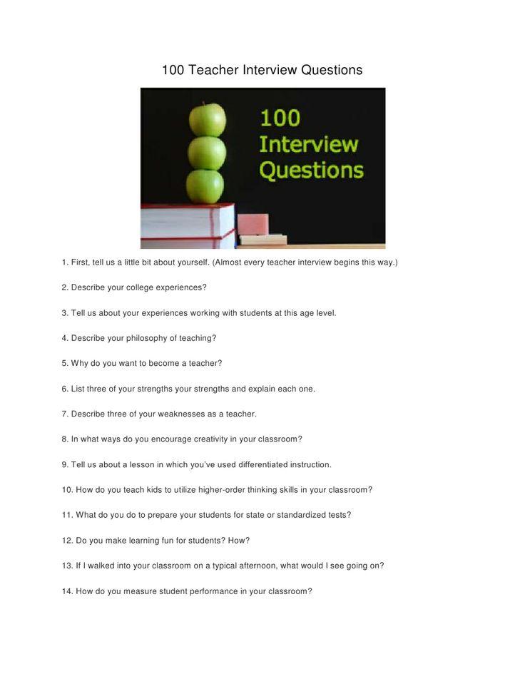Best 25+ Teaching interview questions ideas on Pinterest
