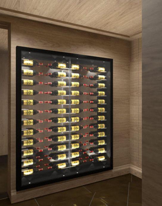 armoire a vin integree dans mur 03 wine pinterest wine cellars wine and cave