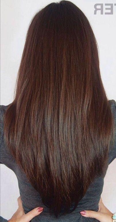 Lange Haare Stufenschnitt Hinten Coiffer Hair Hair Styles Und