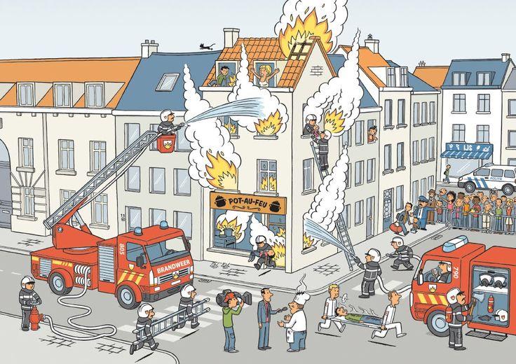 Interactieve praatplaat: Vuur blussen met Flip de Beer, Liedje: de brandweer; oei ... - ThingLink