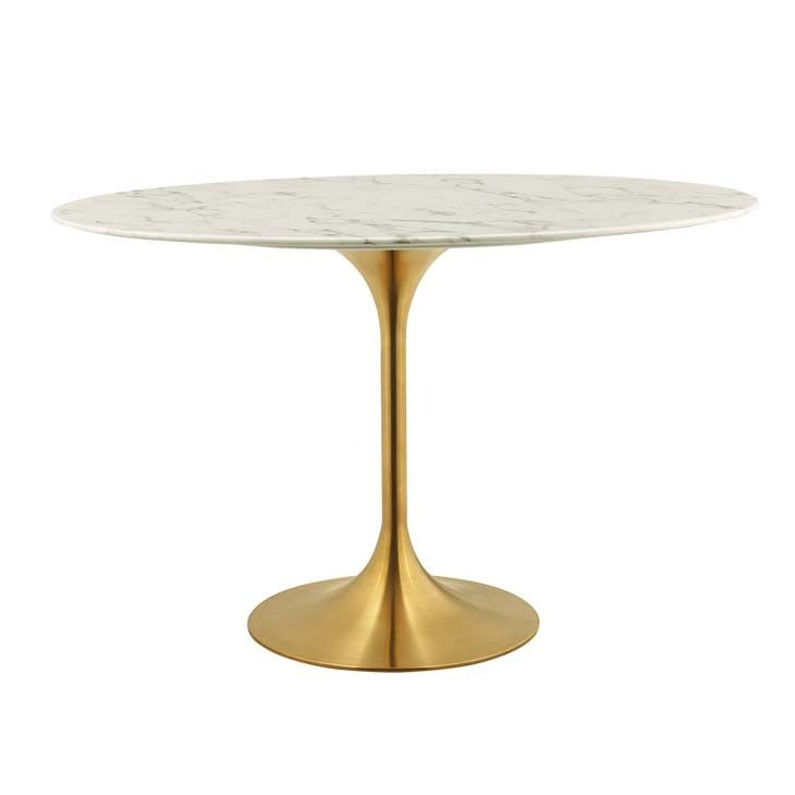 Eero Saarinen Oval Tulip Table Marble Top 48 Dining Table Marble