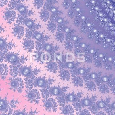 Pink blue purple soft fine pearl lace fractal - Stock Illustration | by Iguanasbear