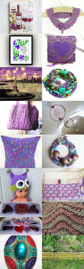 purple sunday... by Tatie on Etsy--Pinned+with+TreasuryPin.com