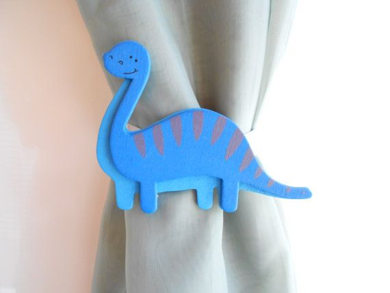 Blue Dinosaur Curtain Tie Backs  Nursery Decor  by TonyaandJoshua, $14.00