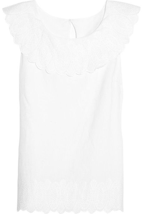 Iris & Ink Embroidered cotton top