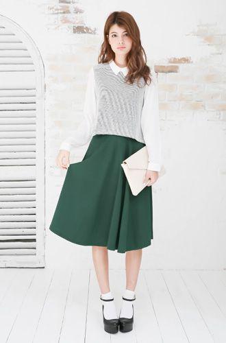 ミモレ丈のスカートを合わせるだけでラブリーガールスタイル♡ ふんわり系タイプのファッション スタイルのコーデ参考アイデア集♪
