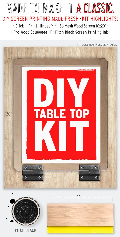 DIYprintShop® TableTop Screen Printing Kit™